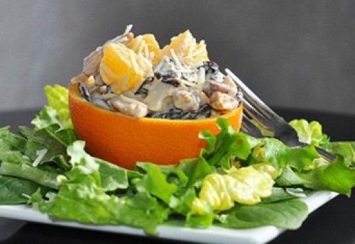 Салат из курицы и апельсинов